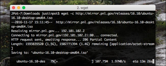 Imagen 2 en Wget, descargas desde línea de comandos