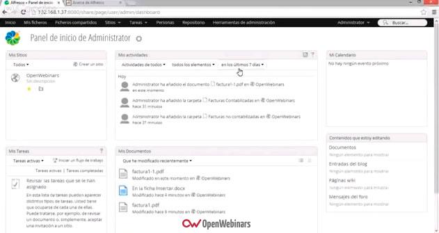 Webinar de Usos Prácticos de Alfresco